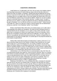 joseph fletcher on situation ethics essay document in a level preview of page 1 joseph fletcher s situation ethics