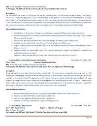 awesome roles and responsibilities of net developer resume dot net developer  sle resume cv cover letter