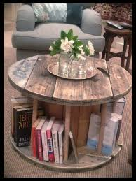 spool furniture i love love love these old spool tables what a great idea to
