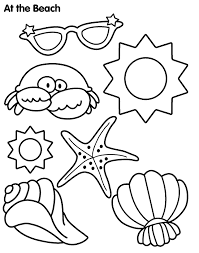 Big sandwich cute coloring picture to print and color. Beach Coloring Pages Free Printable Coloring Home