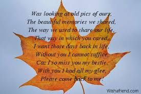 Missing You Friend Poems Magnificent Our Friend Ship Its A Lofe Long Memories For Mi