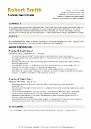 Assistant Coach Resume Samples Assistant Swim Coach Resume Samples Qwikresume