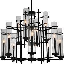 lighting marvelous modern black chandelier 21 breathtaking 5 0002151 38 sierra iron two tier large round
