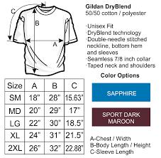 Gildan 50 50 Size Chart Dick And Jane Readers