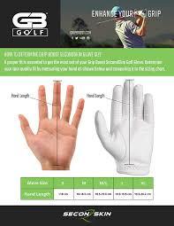 Golf Glove Hand Size Chart Amazon Com Gb Golf Second Skin Mens Golf Gloves Medium