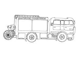 Coloriage Camion Pompier Les Beaux Dessins De Transport