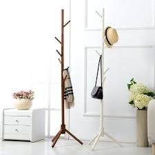 wooden clothes rack 8 hook modern colorful coat hanger stand for hall furniture simple wooden floor clothes rack bedroom living room in coat racks from
