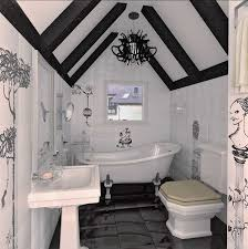Image unique bathroom Beautiful Black And White Decorating Ideas For Small Bathroom With Ceiling Beams Life On Kaydeross Creek 26 Modern Bathroom Design And Decorating Ideas Creating Bathrooms