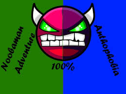 anthophobia noobaman adventure ll demons in one video ll  anthophobia noobaman adventure ll 2 demons in one video 8 ll dark gmd ll geometry dash 2 1