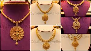 gold big pendant necklace designs