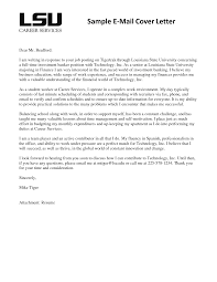 Format For Email Cover Letter Tomyumtumweb Com