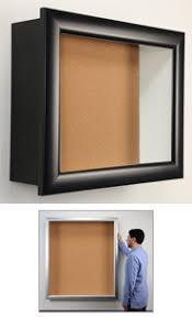5 Inch Deep Large Shadow Box w Large Cork Board