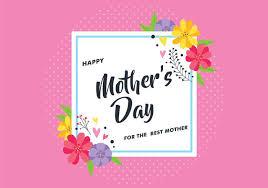 Mothers Greeting Card Mothers Day Greeting Card With Flower Download Free Vector Art