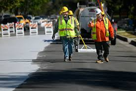 cool pavement to cut urban street heat gets first california tryout in canoga park daily news