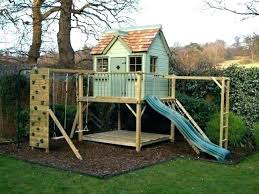 kids playhouses with slide outdoor playhouse garden and swings design ideas living room walls de