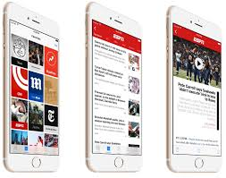 apple news. espn now available on apple news with free ios 9 update - front row i