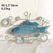 metal fish wall art for indoor and