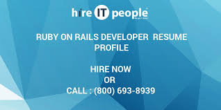 Ruby On Rails Developer Resume Profile Hire It People We Get It Done