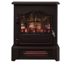 stove flame. duraflame infrared pedestal base stove heater w/3d flame tech - page 1 \u2014 qvc.com