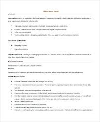 Example Server Resume Simple Waitress Resume Template Verbeco