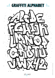 Coloriage Alphabet Graffiti Momes Net