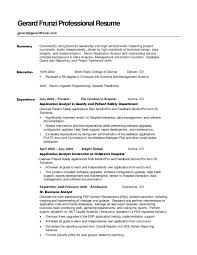Summary Statement For Resumes Resume Resume S Statement Examples Hospitality Career