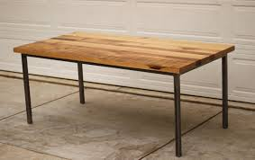 round wood table with metal legs rectangular reclaimed wood dining table with metal legs of stunning