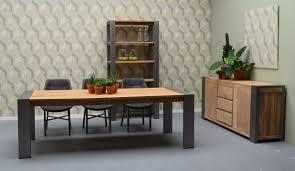 Esstisch Tisch Küchentisch Teak Teakholz Altholz Metall Industrial