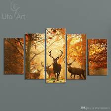 abstract painting framed canvas wall paintings giclee prints photos  on 5 canvas wall art custom with online cheap modern digital picture print on canvas animal deer