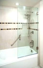 half glass shower door for bathtub furniture decorative inch bathroom land