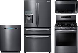 Gas Kitchen Appliance Packages 4 Piece Kitchen Package With Nx58j7750sg Gas Range Rf28jbedbsg