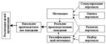 Курсовая работа Система управления персоналом формирование и  На рисунке 1 2 представлена общая модель управления персоналом в организации