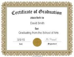 Graduation Certificate Template Word Beauteous Free Graduation Certificate Templates Customize Online