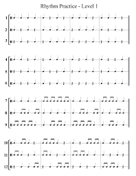 Rhythm Practice and Counting Worksheet | dancing to the music ...