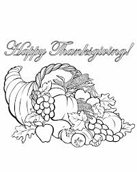 Small Picture Color Thanksgiving Cornucopia Coloring Page Get Coloring Pages