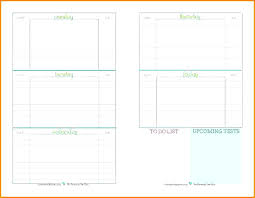 School Planner Template Student Assignment Elementary