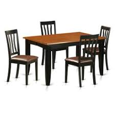 pfan5 bch black cherry rubberwood kitchen dining table and 4 solid chairs pack