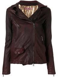 giorgio brato textured biker jacket red women