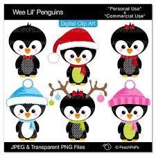 cute penguin christmas clipart. Cute Penguin Clip Art Digital Clipart Birds By Peachpopsclipart 500 Xmas Christmas For