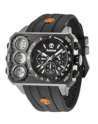 timberland men s black silicon strap watch amazon co uk watches timberland men s black silicon strap watch