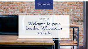 Example 5 Leather Wholesaler Website Template Godaddy