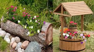 Unique wooden flower planter ideas | outdoor planters Design