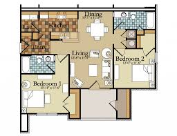Best Two Bedroom Apartment Plans Contemporary Amazing Design - Two bedroomed house plans