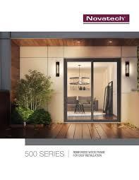 500 series novatech patio doors