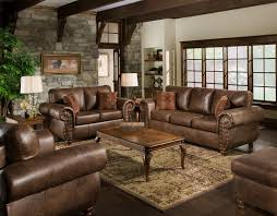 Leather Furnitures Living Rooms Dark Chocolate Leather Sofa Grey Brown Green Decor Reigns In This