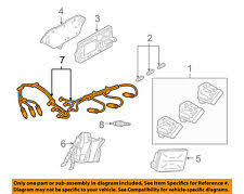 gm car truck ignition wires for chevrolet lumina gm oem ignition spark plug wire or set see image 12192462 fits chevrolet lumina