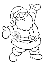 Happy Santa Coloring Pages For Kids Printable Free Coloing 4kidscom