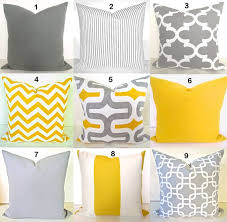 Image Contemporary Image Etsy Yellow Pillow Covers Gray Decorative Pillows Yellow Throw Etsy