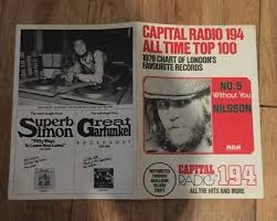 Chart Hits 1976 Capital Radio 194 All Time Top 100 1976 Radio Chart Harlequin Record Stores Ebay