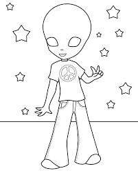 Small Picture Free Printable Alien Coloring Pages For Kids